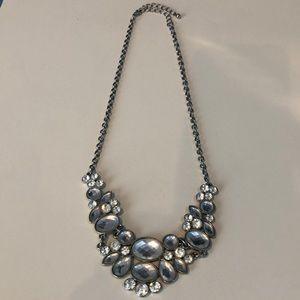 """Jewelry - Silver """"diamond"""" gemstone necklace"""